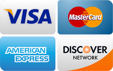Preedy gladly accepts VISA, MasterCard, American Express and Discover cards